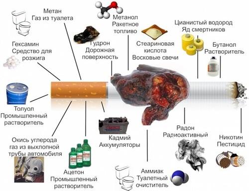 CHto vhodit v sostav sigaret