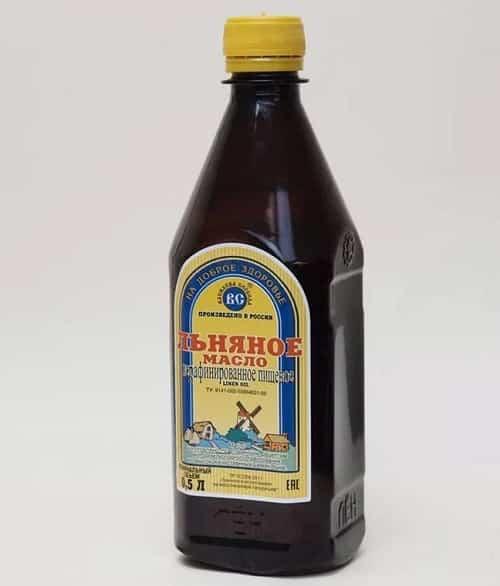 L'nyanoe maslo v butylkah