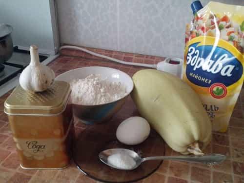 Nabor produktov dlya kabachkovogo torta